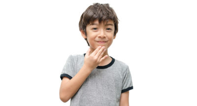 """Students learn to say """"thank you"""" in American Sign Language and brainstorm non-verbal ways to express gratitude."""