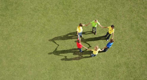 A game involving balance and teamwork that helps build trust.