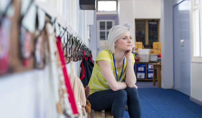 Teacher thinking about a difficult ethical decision she has to make.