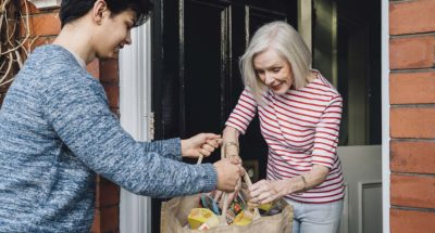 Delivering groceries to an elderly neighbor is an example of a prosocial action.