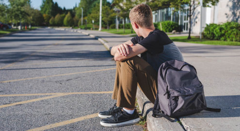Students learn how to comfort themselves during stressful times.