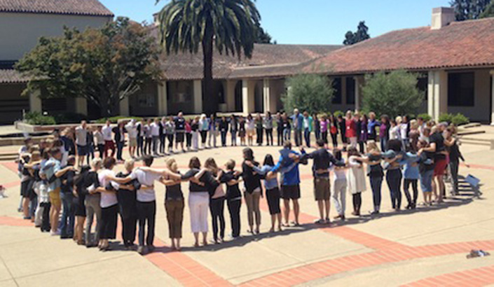 Circle of teachers at the Summer Institute for Educators