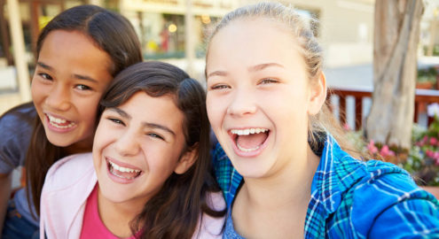 Students establish and build friendships with classmates in a safe way.