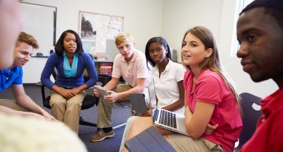 Students share their opinions and disagreements in healthy ways